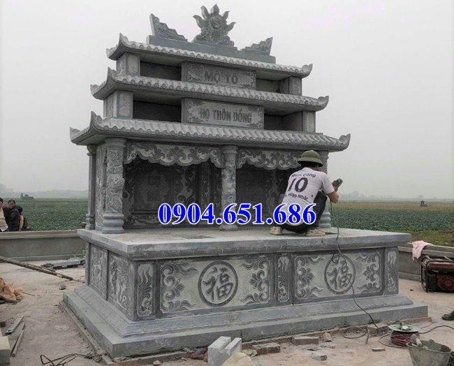 Mộ tổ hai ba ngôi bằng đá xanh Ninh Bình đẹp bán tại Quảng Nam