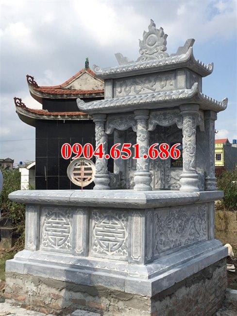 Mẫu mộ đá đôi đẹp bán và lắp đặt ở Quảng Ngãi giá rẻ