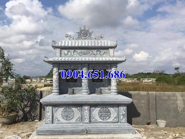Mẫu mộ đá đôi hai mái để hài cốt bán và lắp đặt ở Sài Gòn