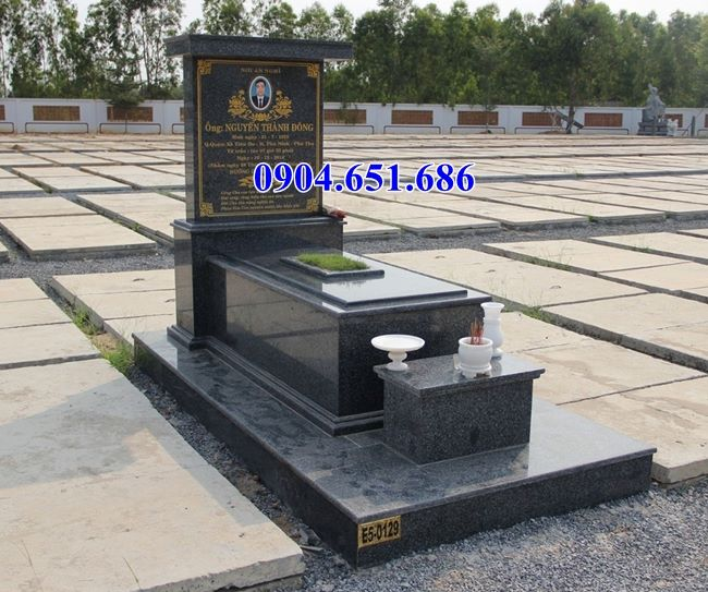 Mẫu mộ đá granite Kim sa Ấn Độ đẹp tại Hà Nội