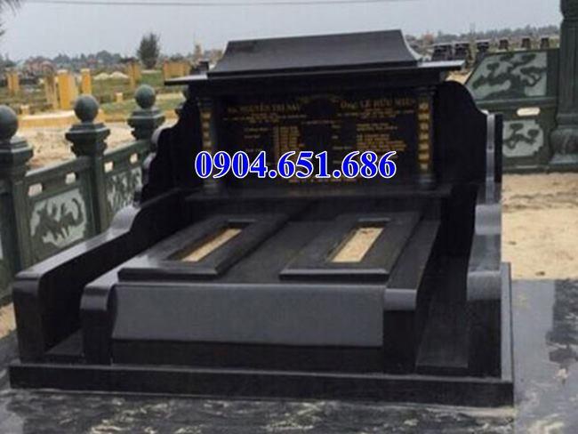 Mẫu mộ đôi đá hoa cương granite nguyên khối đẹp bán ở Đà Nẵng