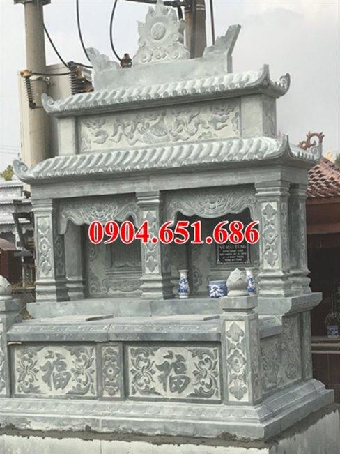 Mẫu mộ đôi đá xanh rêu đẹp tại Quảng Nam