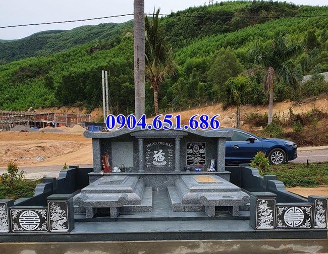 Mẫu mộ đôi gia đình đá hoa cương granite thiết kế đẹp