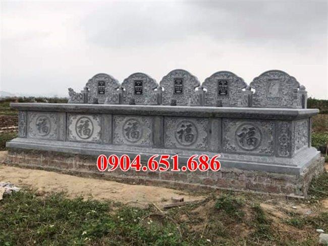 Mẫu mộ đôi hai ba ngôi đá xanh Ninh Bình đẹp bán tại Quảng Ngãi