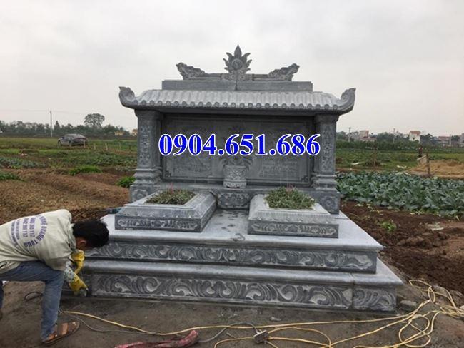 Mẫu mộ đôi tam cấp một mái đá Ninh Bình bán tại Đà Nẵng