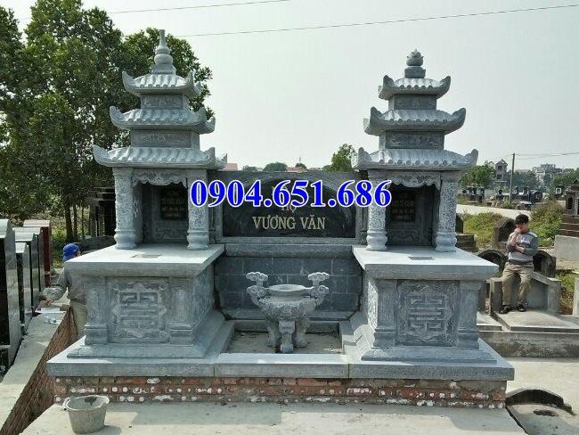 Mẫu mộ tổ đôi đá khối tự nhiên đẹp ở Quảng Ngãi