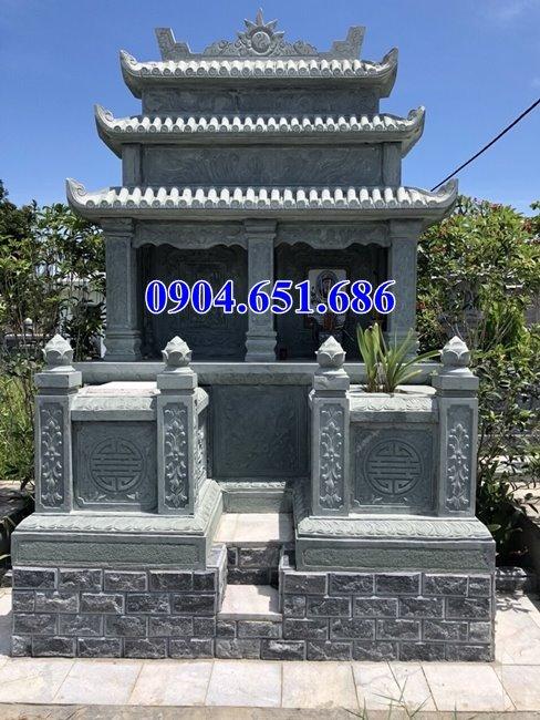 Thiết kế làm mẫu mộ đôi gia đình tại Sài Gòn bằng đá xanh rêu đẹp