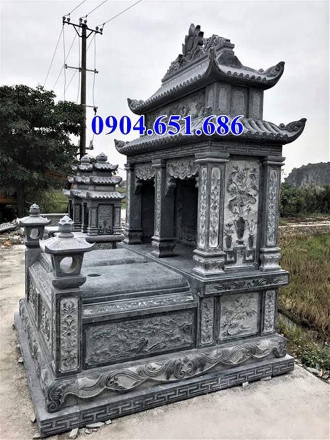 Thiết kế xây mẫu mộ đôi gia đình ở Quảng Ngãi bằng đá đẹp