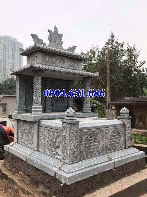 Địa chỉ bán, xây mẫu mộ đá đôi hai mái ở Hà Nội