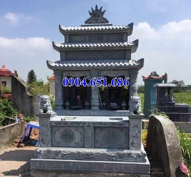 Mẫu mộ đá đôi ba mái bán tại Hà Nội – Mộ đôi bằng đá đẹp
