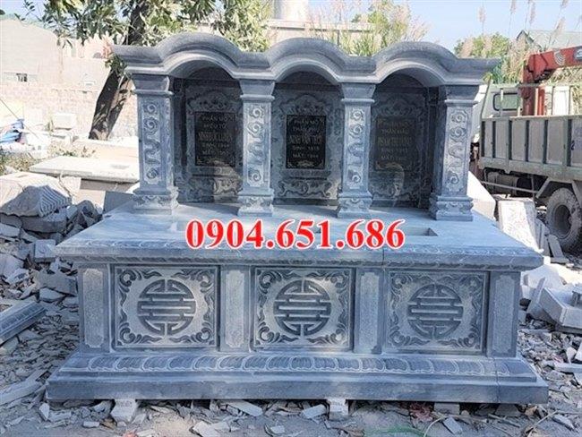 Mẫu mộ đá đôi, ba ngôi gia đình thiết kế một mái vòm đẹp