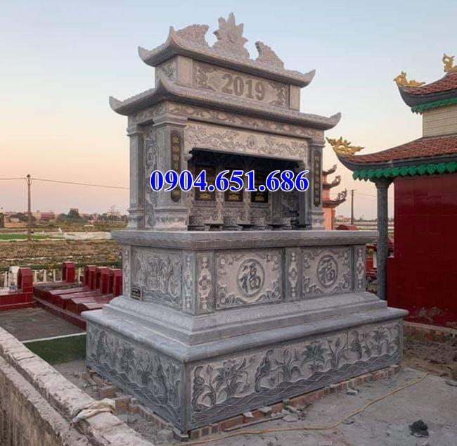 Mẫu mộ đá đôi hai mái bán tại Hà Nội – Mộ đá đôi đẹp