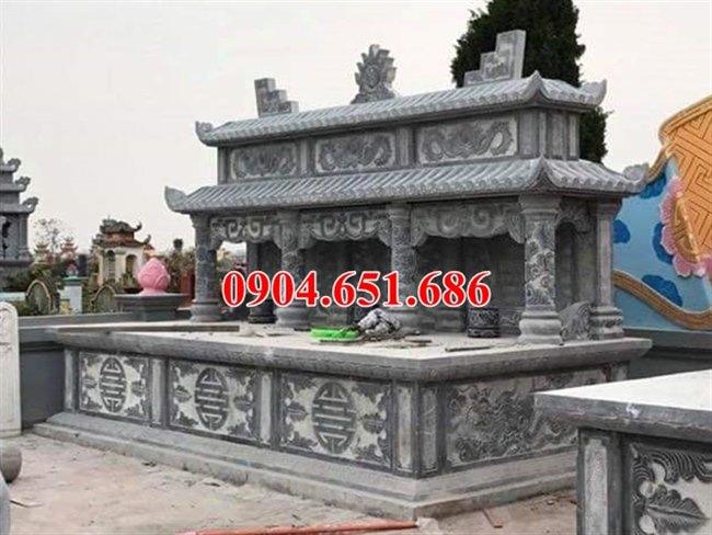 Mẫu mộ đá gia đình hai ba ngôi liền kề kích thước hợp phong thủy