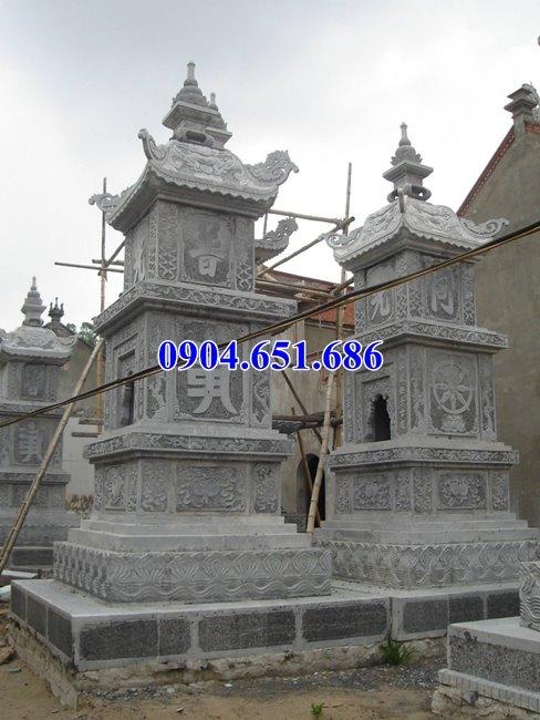 Mẫu mộ đá tháp phật giáo để tro cốt đẹp