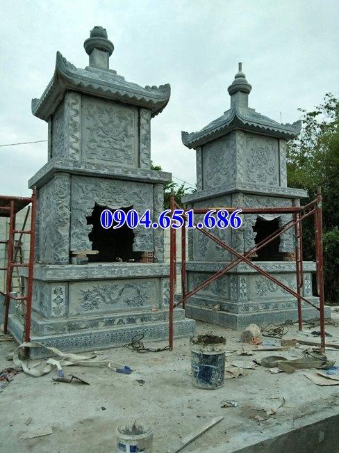 Mẫu mộ đá tháp xây để tro cốt bán tại Bạc Liêu – Mộ tháp đá khối tự nhiên