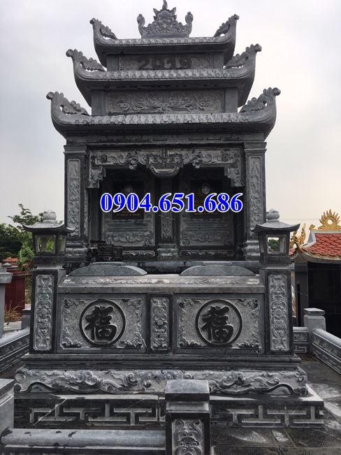 Mẫu mộ đôi ba mái đá mỹ nghệ Ninh Bình đẹp