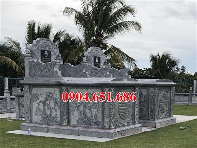 Mẫu mộ đôi gia đình đá khối tự nhiên bán tại Hà Nội – Mộ đá đôi đẹp