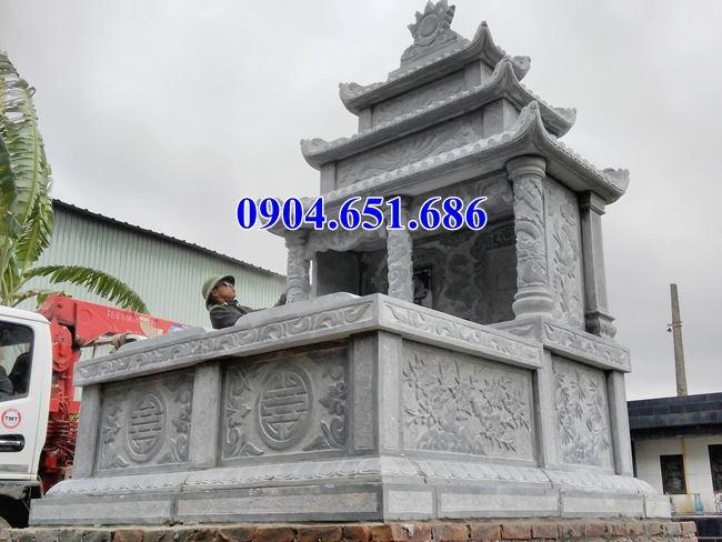 Mẫu mộ đôi gia đình đá xanh Thanh Hóa đẹp