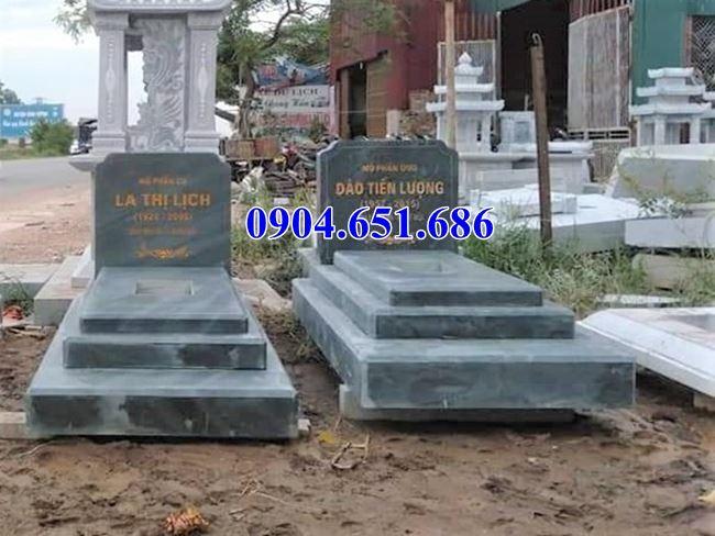 Mẫu mộ đôi tam cấp gia đình đơn giản đẹp