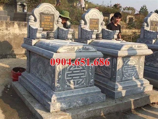Mẫu mộ đôi tam sơn không mái đá Ninh Bình bán tại Hà Giang
