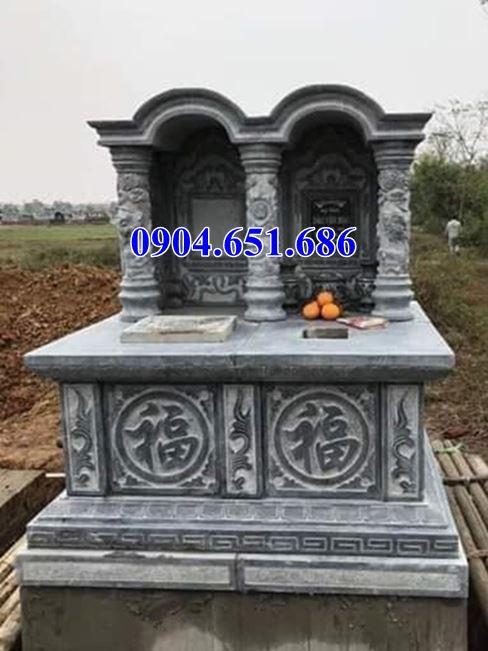 Mẫu mộ đôi thiết kế một mái vòm đá khối tự nhiên đẹp