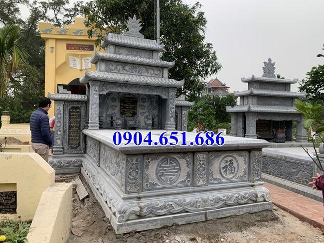 Mẫu mộ tổ đôi ba mái đá mỹ nghệ Ninh Bình bán tại Sơn La