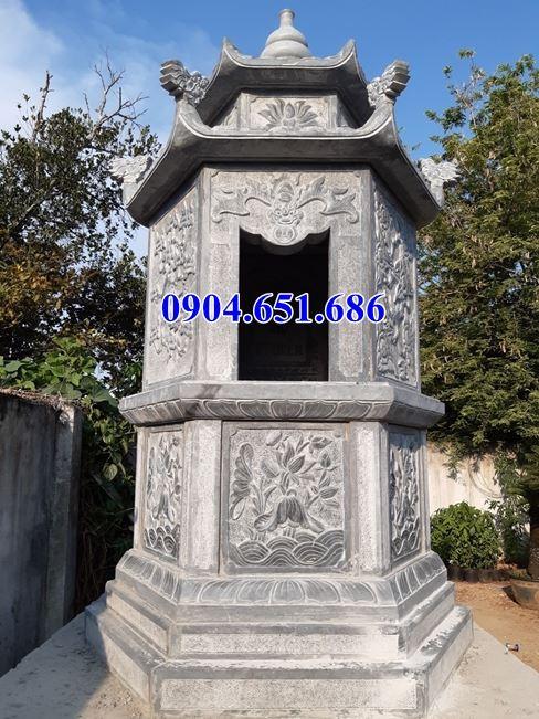 Mẫu mộ tháp đá đẹp bán tại Long An – Mộ đá tháp phật giáo xây để tro cốt