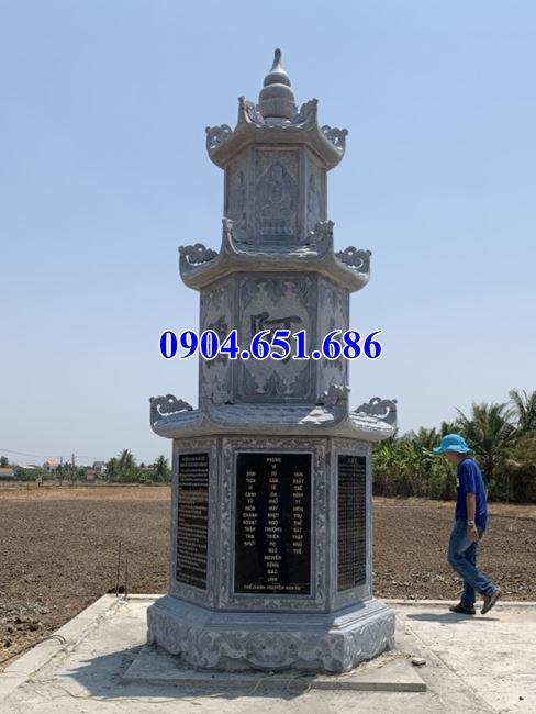 Mẫu mộ tháp đá phật giáo bán tại Tiền Giang – Mộ đá tháp để hài cốt