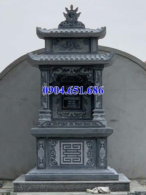 Mẫu miếu thờ thần linh thiết kế xây bằng đá khối tự nhiên đẹp