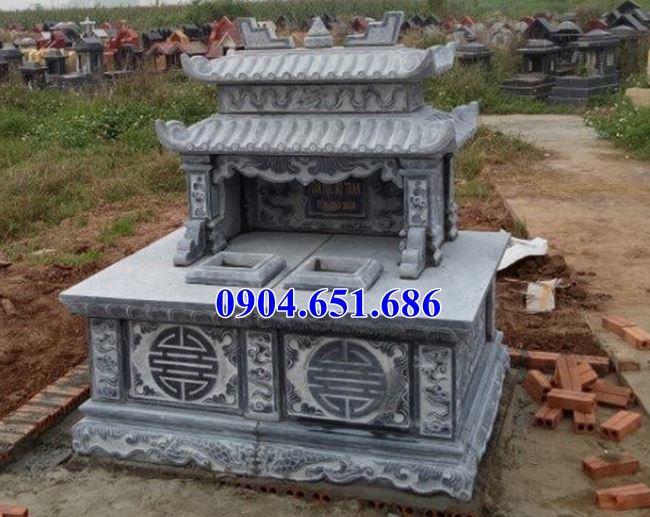 Thiết kế, Xây mộ đôi đá khối tự nhiên đẹp ở Sơn La