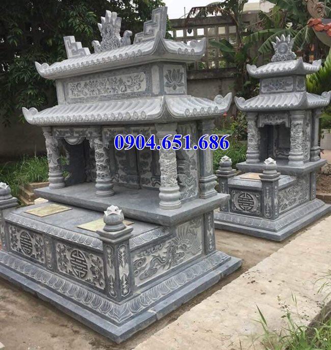 Thiết kế, Xây mộ đôi gia đình đá khối tự nhiên đẹp ở Lào Cai