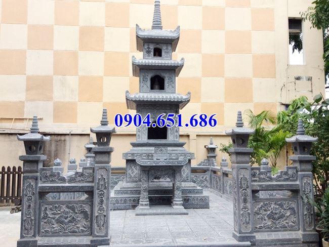 Xây bảo tháp đá phật giáo thờ các phật tử, các vị sư trụ trì