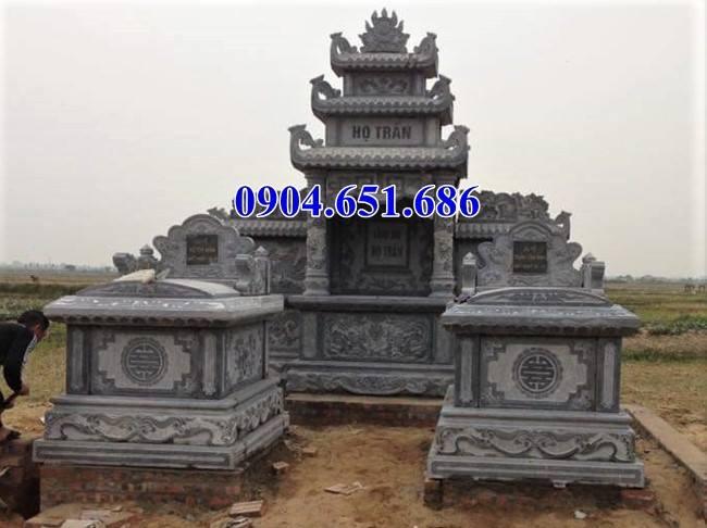 Bán mẫu mộ đá đôi gia đình thiết kế kích thước chuẩn phong thủy