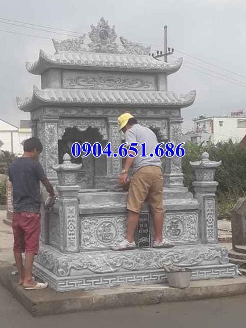 Kích thước xây mộ đôi bằng đá chuẩn phong thủy