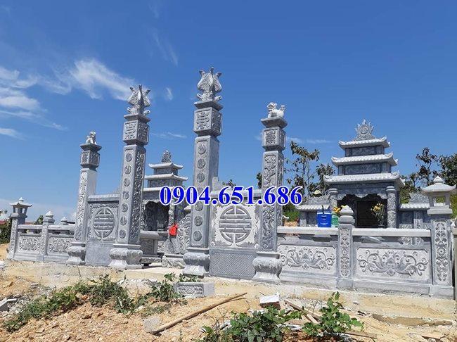 Mẫu cổng đá khu lăng mộ gia đình đẹp