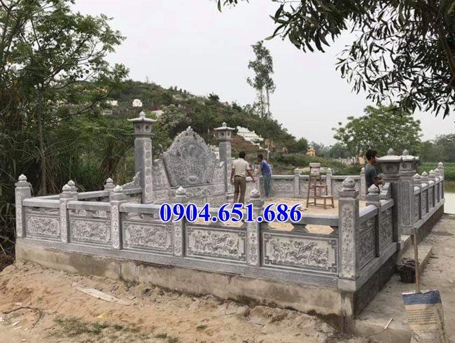 Mẫu khu lăng mộ gia đình đá khối tự nhiên đẹp