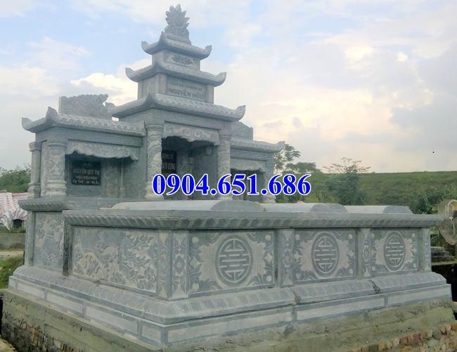 Mẫu lăng mộ đá đôi ba mái đẹp giá rẻ tại các tỉnh Tây Bắc
