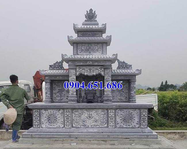 Mẫu lăng mộ đá để tro cốt bán tại Hậu Giang 03 –Am thờ để tro cốt