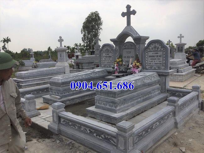 Mẫu lăng mộ đá công giáo bán tại Hà Giang 06 – Lăng mộ đạo