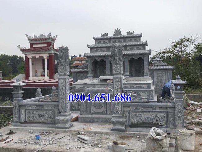 Mẫu lăng mộ đá gia đình bán tại Long An02 – Khu lăng mộ gia đình