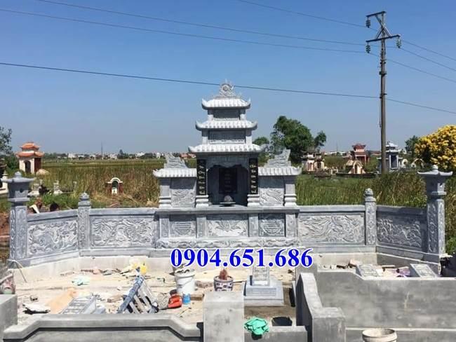 Mẫu lăng mộ đá gia đình bán tại Vĩnh Long02 – Khu nhà mồ gia đình