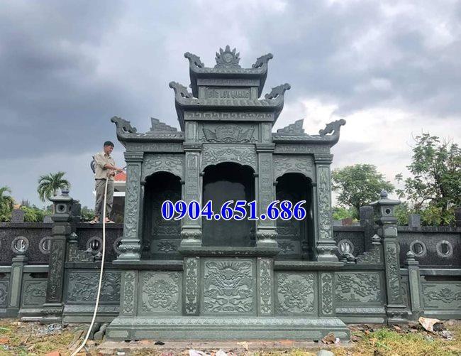Mẫu lăng mộ đẹp đá xanh rêu Thanh Hóa