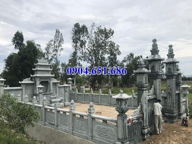 Mẫu lăng mộ xây bằng đá xanh rêu đẹp