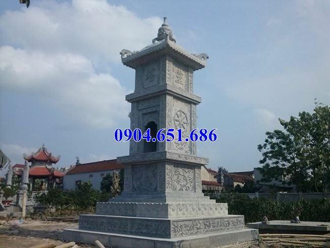 Mẫu mộ đá đẹp hình tháp bán tại Đắk Nông – Mộ tháp đá phật giáo để tro cốt