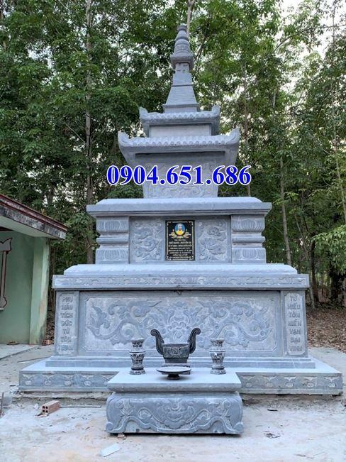 Mẫu mộ đá đẹp hình tháp bán tại Lâm Đồng – Mộ tháp đá phật giáo để tro cốt