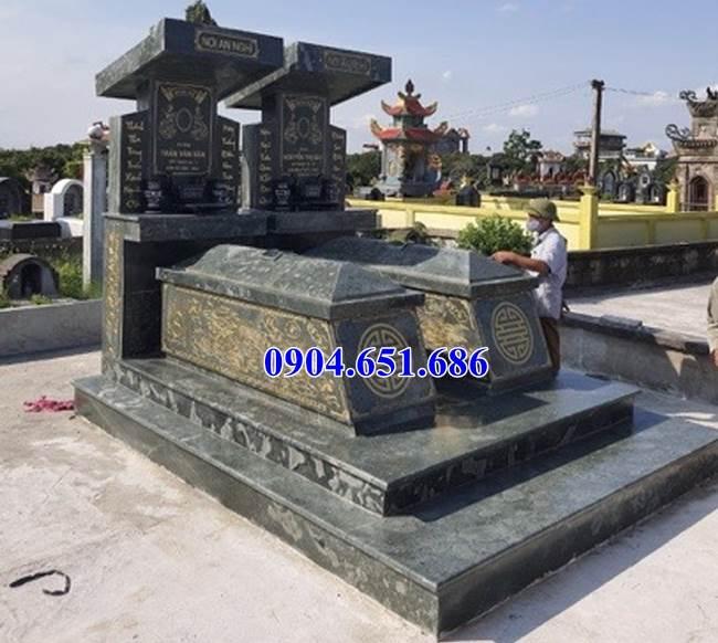 Mẫu mộ đá xanh rêu Thanh Hóa đơn giản đẹp bán tại Sài Gòn