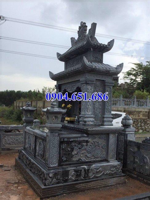 Mẫu mộ đôi đá xanh rêu đẹp bán toàn quốc giá rẻ