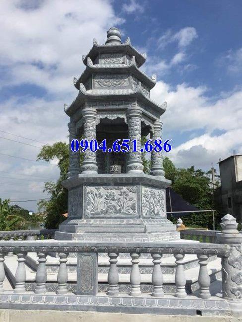 Mẫu mộ tháp đá đẹp bán tại Gia Lai – Tháp mộ đá khối tự nhiên