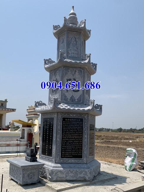 Mẫu mộ tháp đá để tro cốt bán tại Đắk Nông – Mộ tháp đá phật giáo