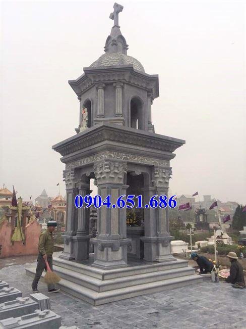 Mẫu mộ tháp tại Vĩnh Phúc xây bằng đá khối tự nhiên đẹp